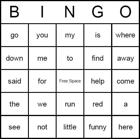 Kindergarten Sight Word Games Printable - Laptuoso