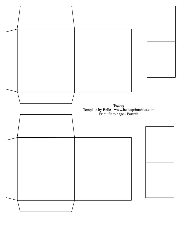 4 Images of Printable Tea Bag Template