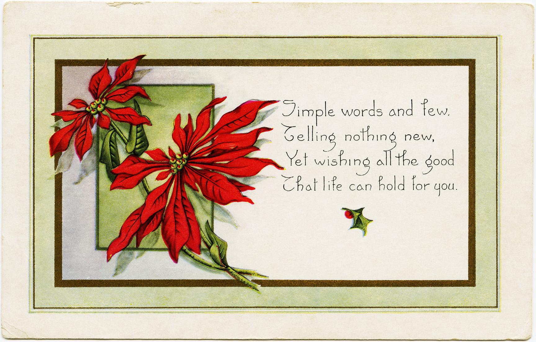 Printable Vintage Christmas Postcards