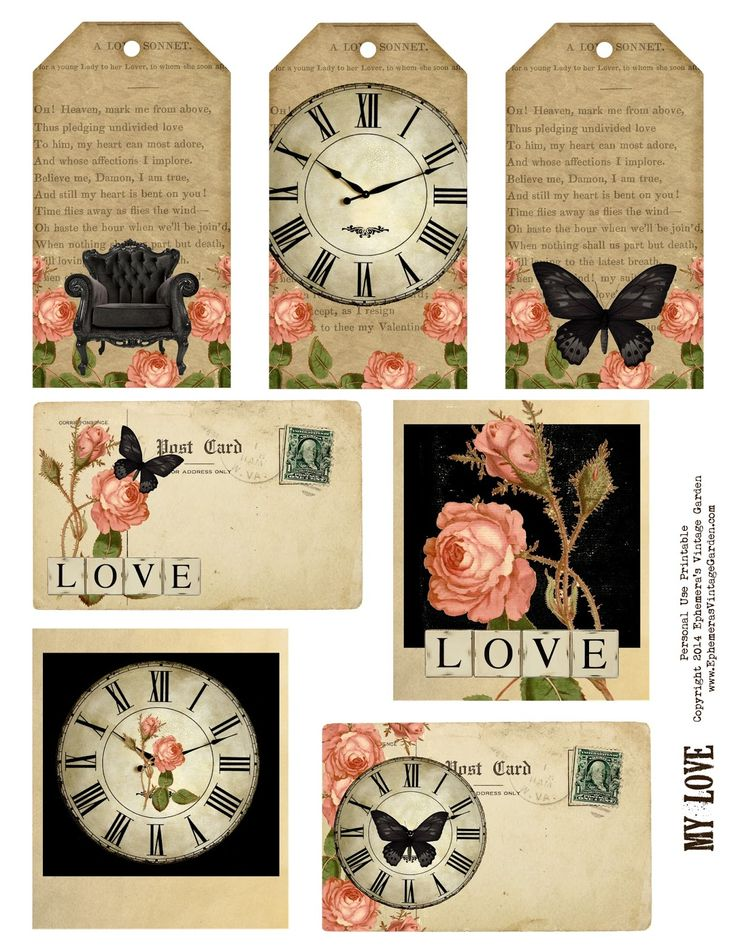 8 Images of Love Tags Vintage Printables