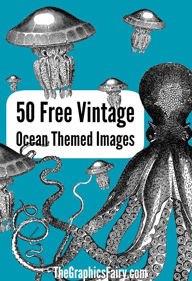 8 Images of Ocean Free Printable Vintage Graphics