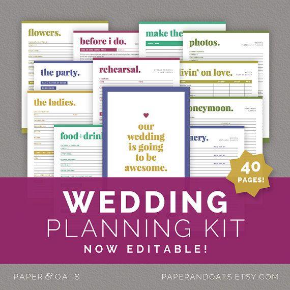 7 Images of Printable Wedding Planner Binder