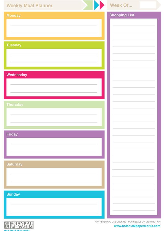 Printable - Free Printable Weekly Planner Calendar Template, Free ...