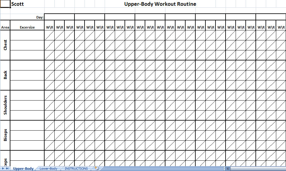 5 best images of weight lifting schedule printable weight lifting workout chart template. Black Bedroom Furniture Sets. Home Design Ideas