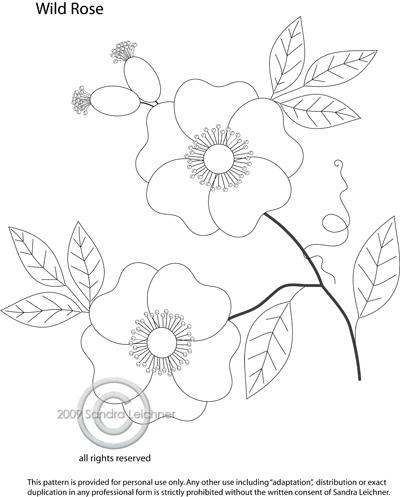 Free Rose Applique Quilt Patterns