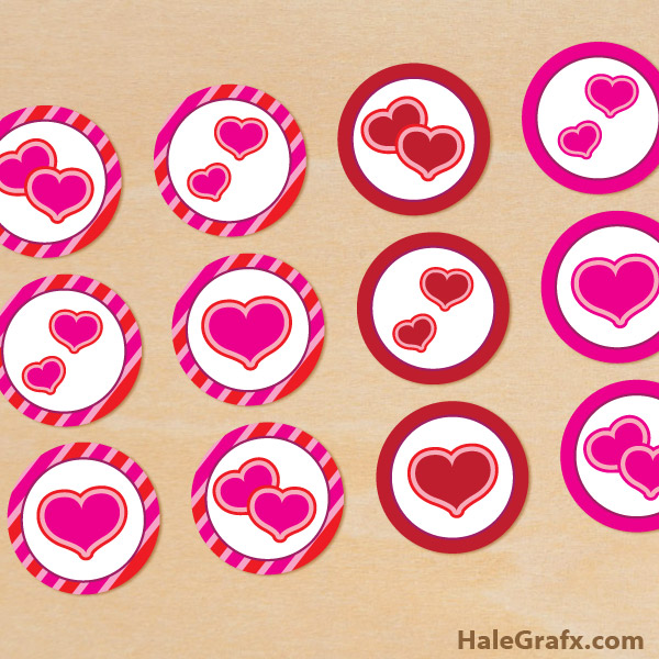 Valentines Printable Cupcake Toppers