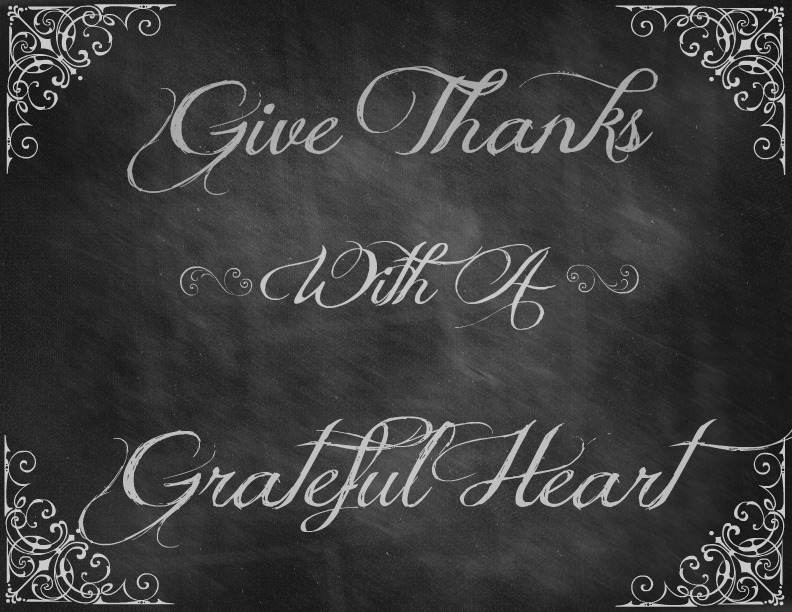 6 Images of Give Thanks Chalkboard Printable