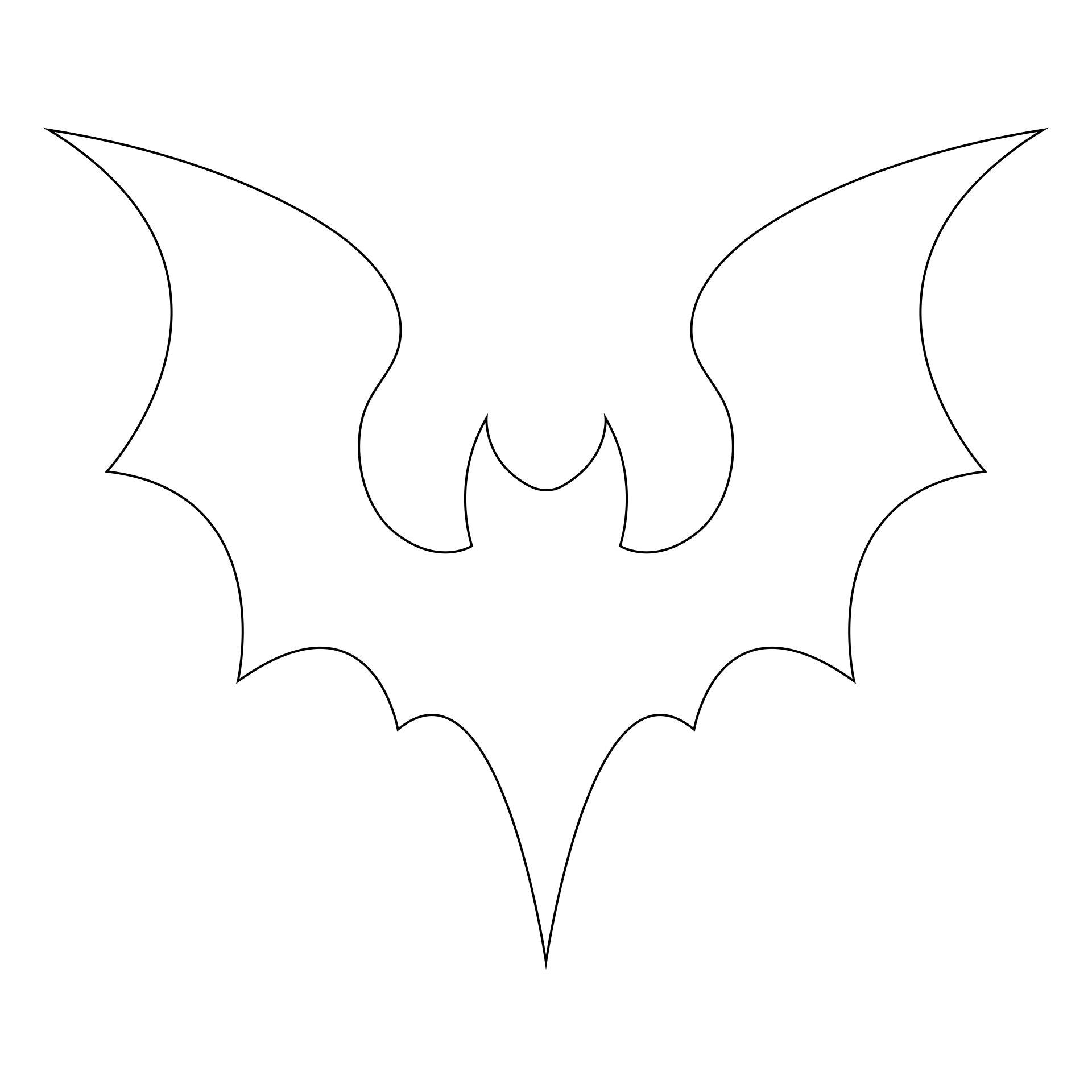 Halloween Bat Outline Clip Art