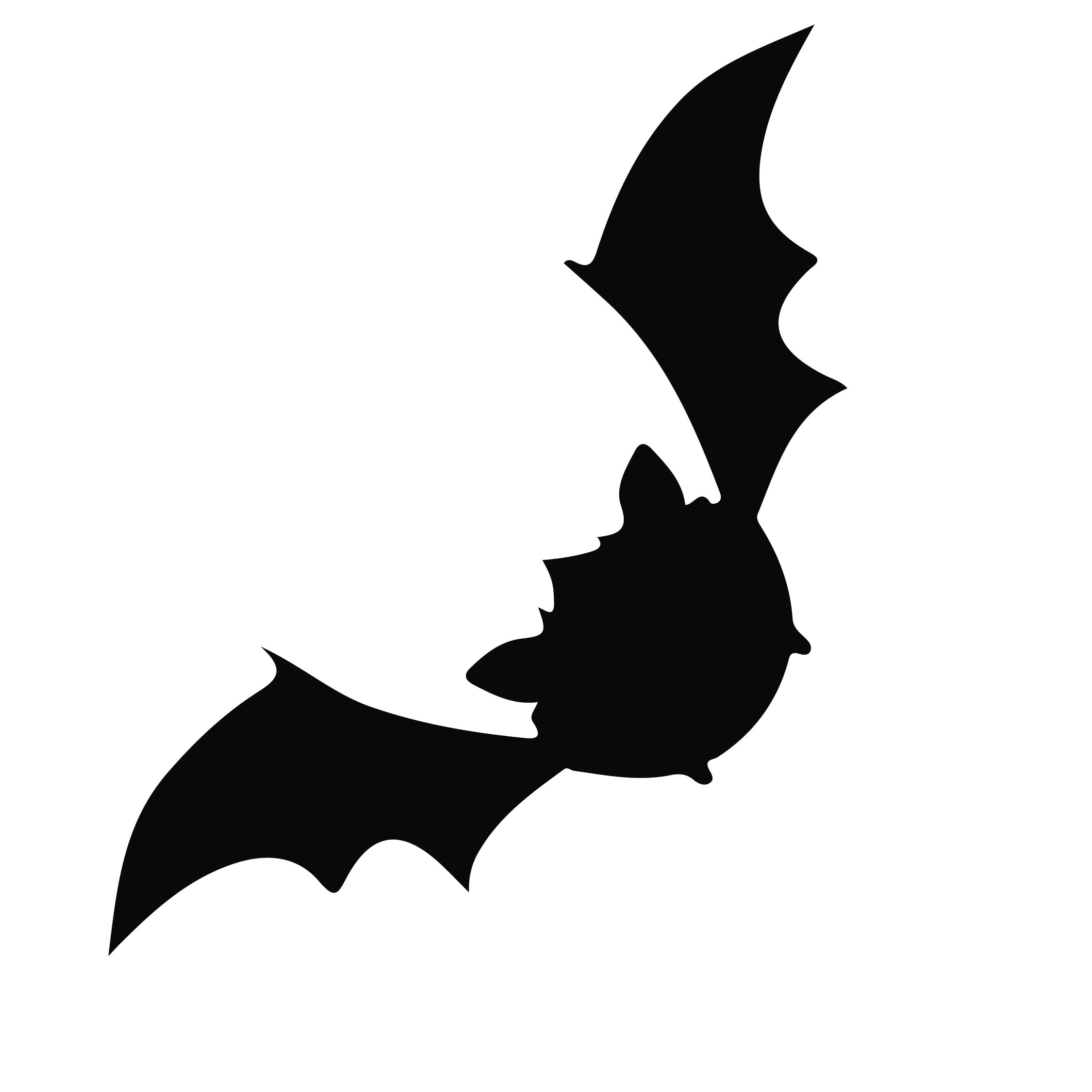 7 best images of halloween bat stencils printable - Deco chauve souris halloween ...