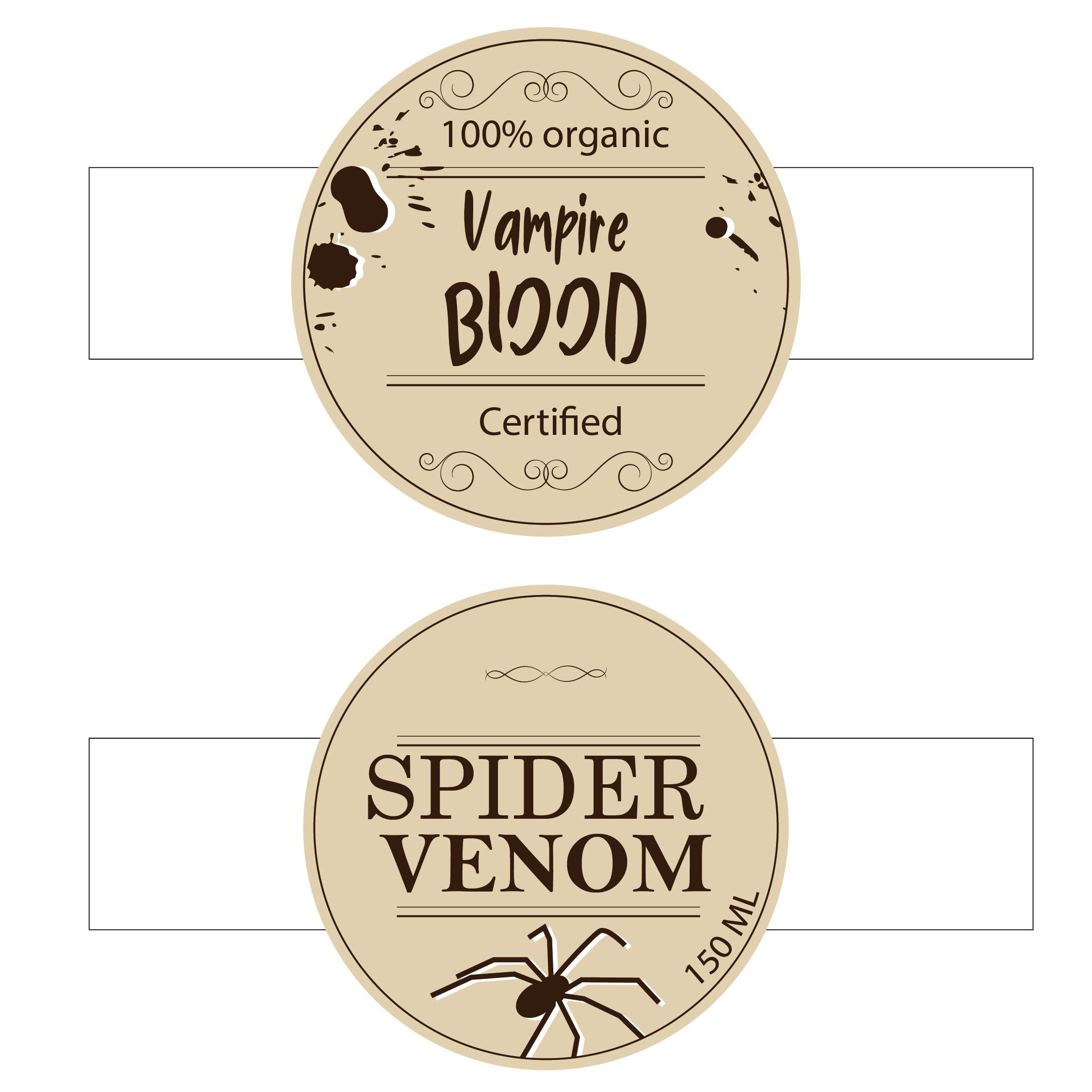 Halloween Food Labels