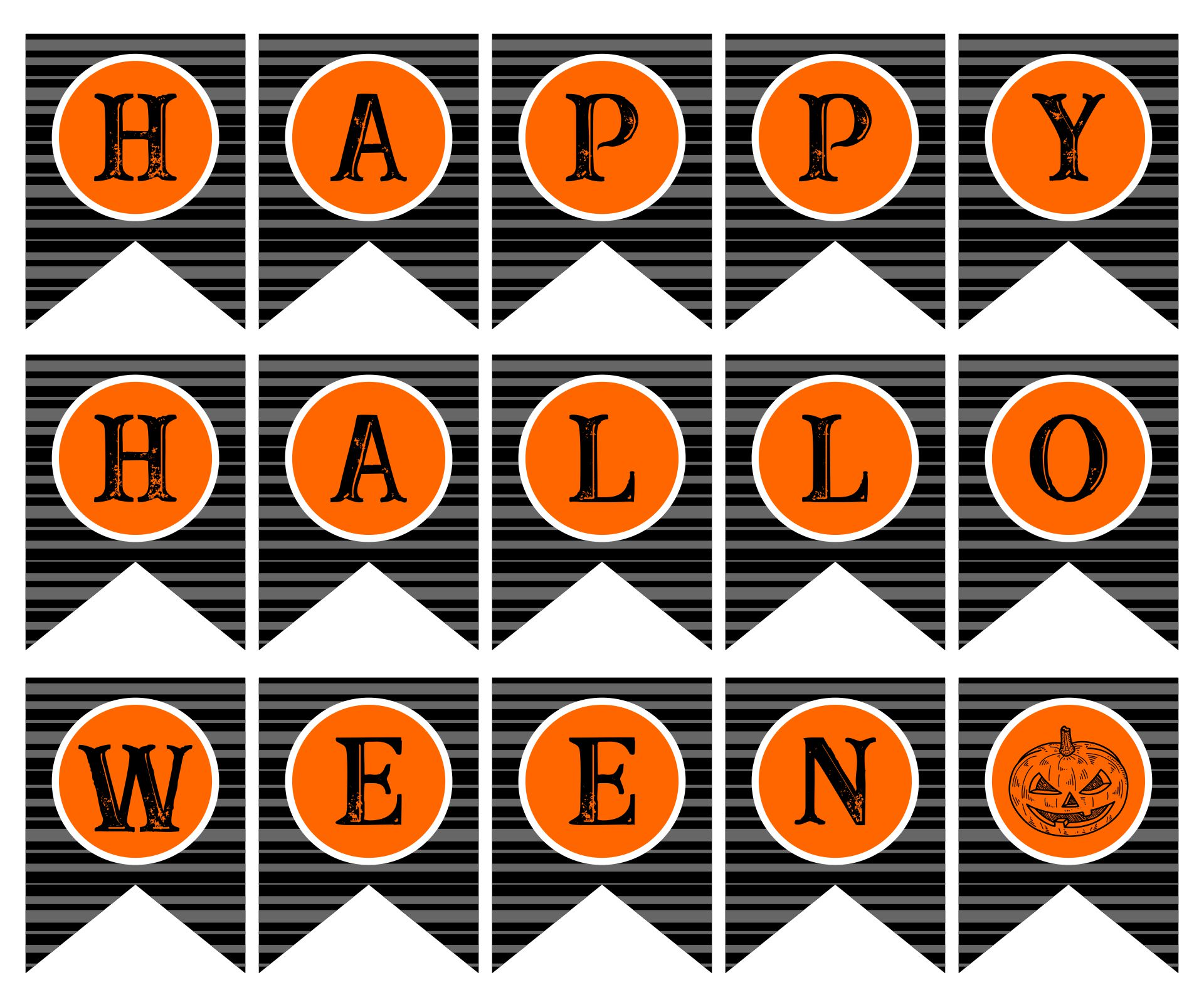 8 Images of Scary Happy Halloween Banner Printable