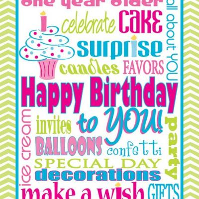 Happy Birthday Subway Art Printable Free