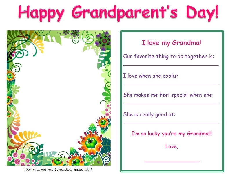 6 Images of Grandma Printable Template