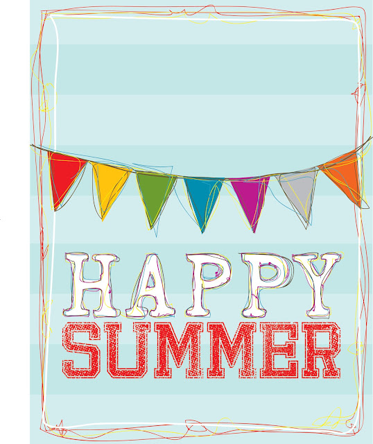 7 Images of Happy Summer Printable Signs