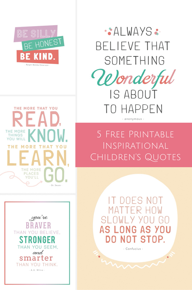 Inspirational Quotes for Kids Printable