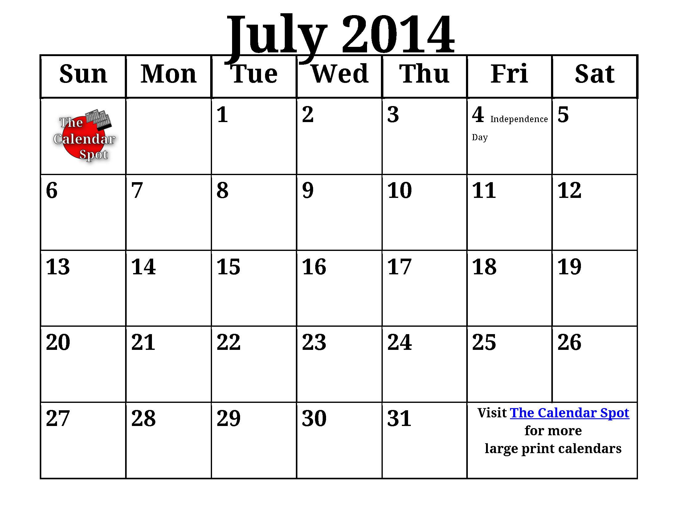 Calendar Large Print : Best images of calendar printable large print