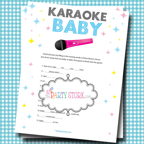 7 Images of Fun Baby Shower Games Printable