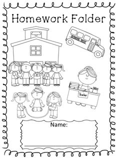 Kindergarten Homework Cover Sheet