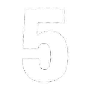 7 best images of printable number template 5 printable for Number 2 cake template