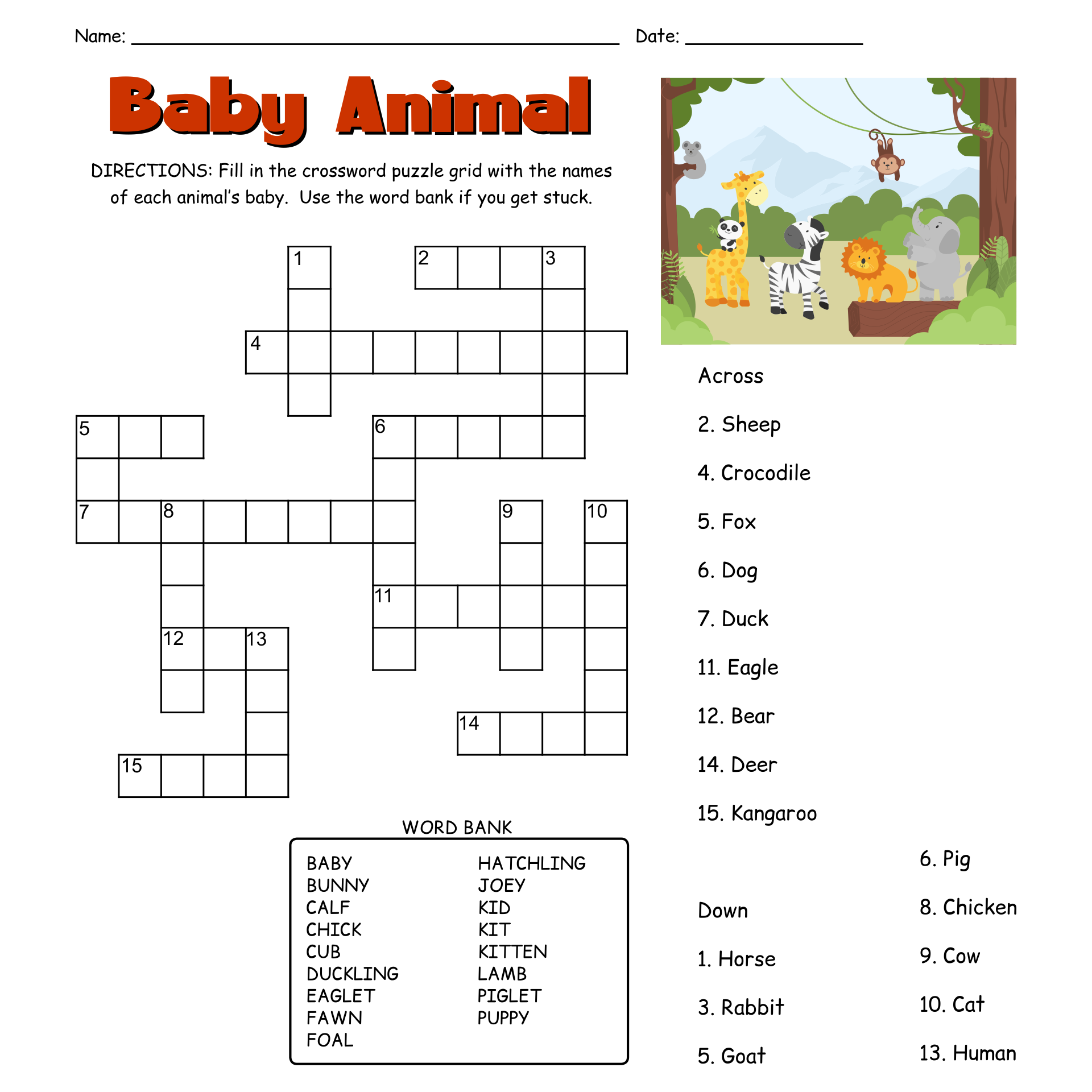 - 6 Best Images Of Easy Printable Puzzles - Free Printable Easy