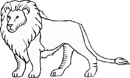 8 Images of Printable Cartoons Of Lions