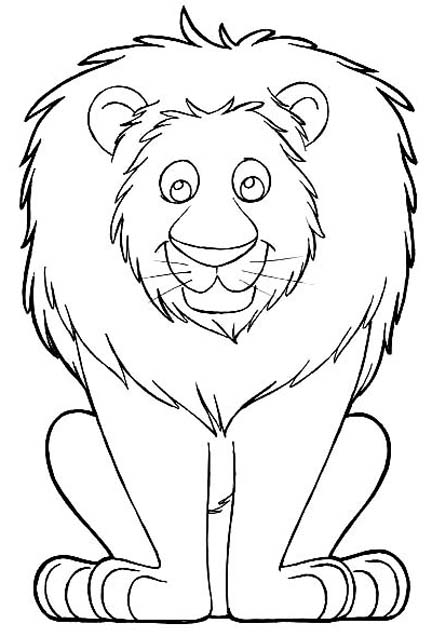 8 Best Images Of Printable Cartoons Of Lions