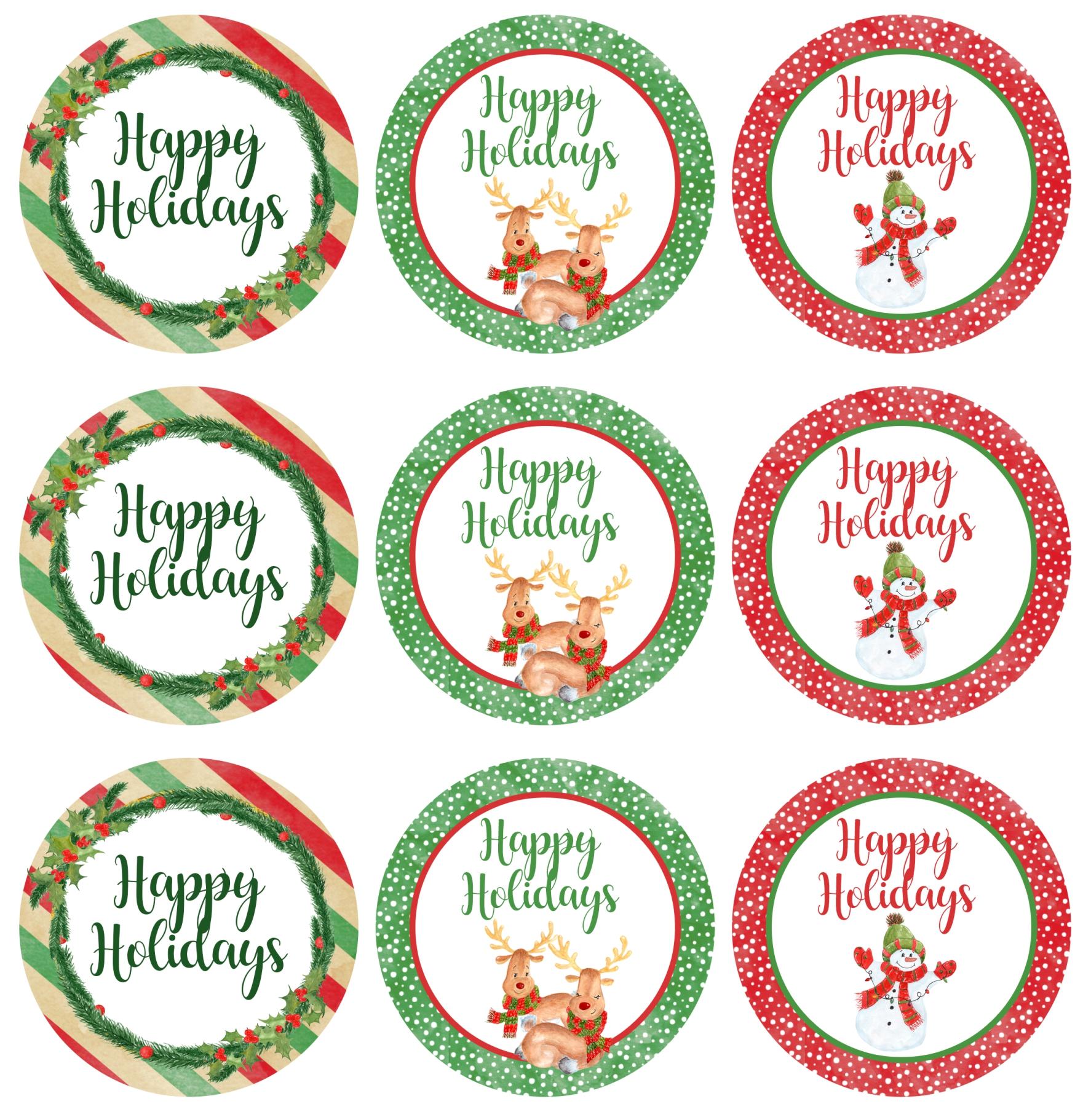 7 Images of Christmas Mason Jar Label Printable Template