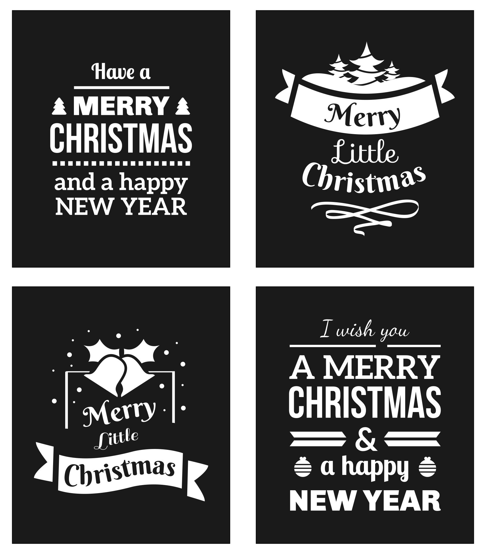 Merry Little Christmas Chalkboard Printable