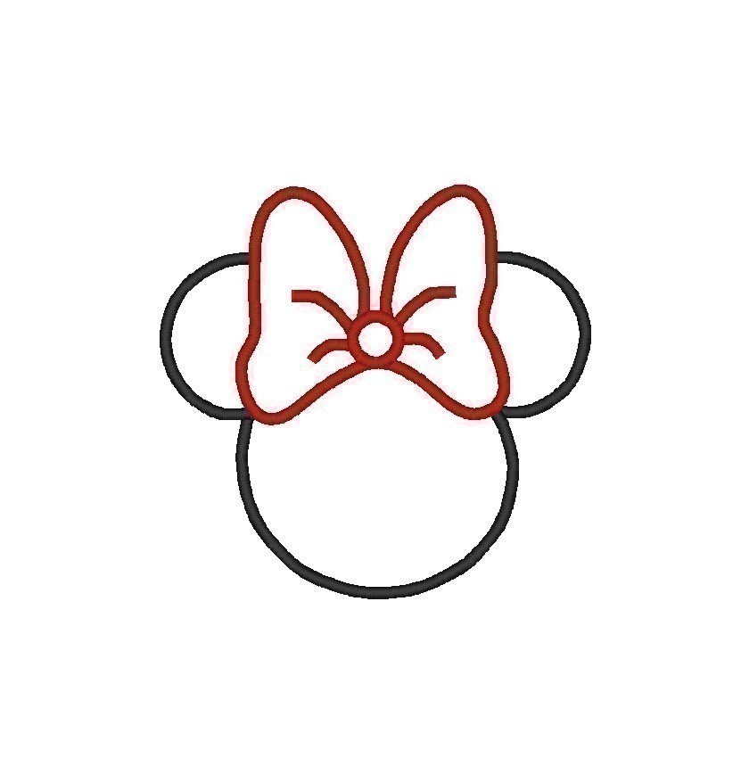 9 Images of Minnie Mouse Head Silhouette Printable