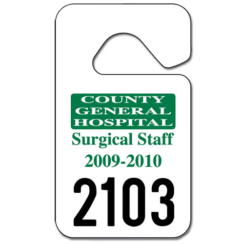 5 best images of printable car hang tags parking permit for Hanging parking permit template free
