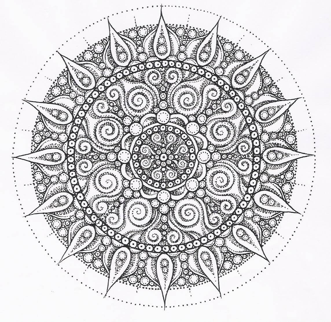 5 Images of Printable Detailed Mandala Coloring Page Sheets