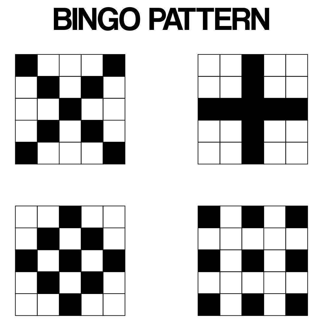 Printable Bingo Patterns