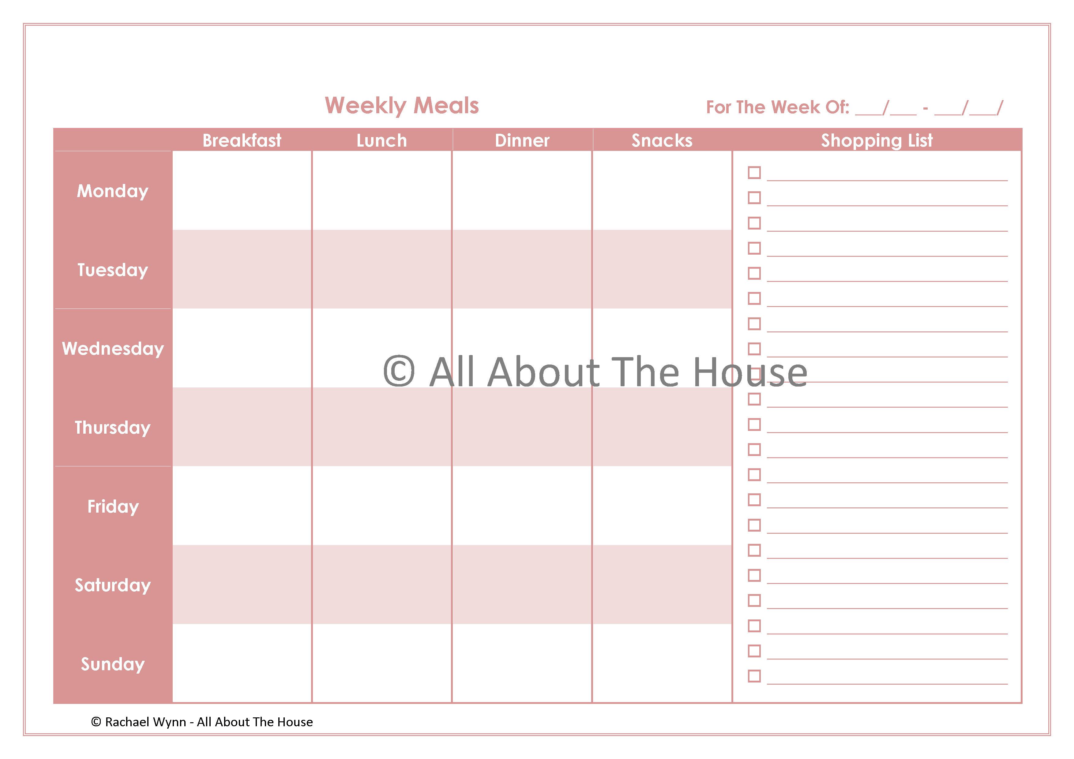 ... Free Printable Weekly Menu Planner, Free Meal Plan Printables and Free