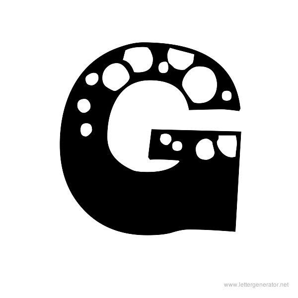 4 Images of Printable Bubble Letters Alphabet G
