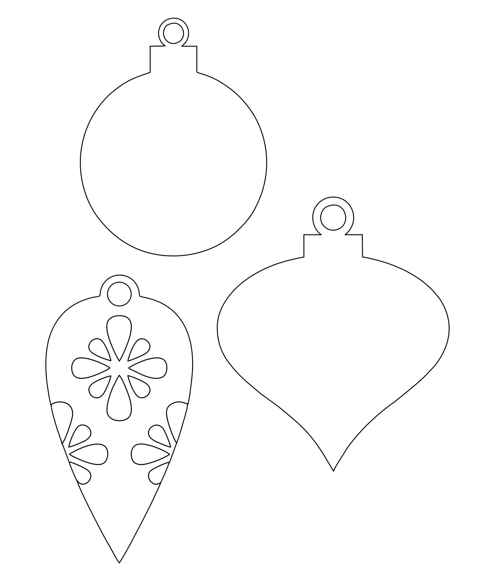 Printable Christmas Ornament Shapes