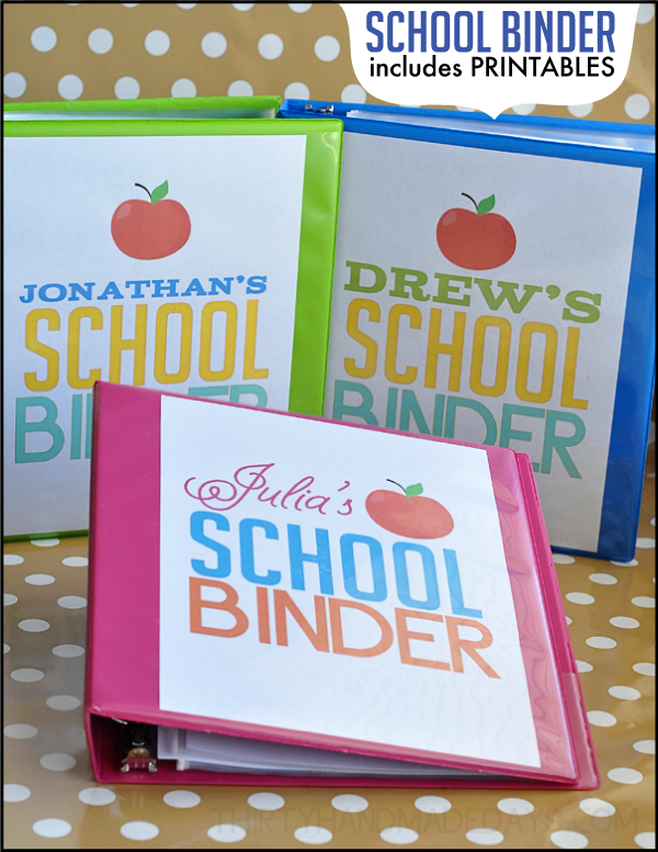 Printable Covers for School Binders