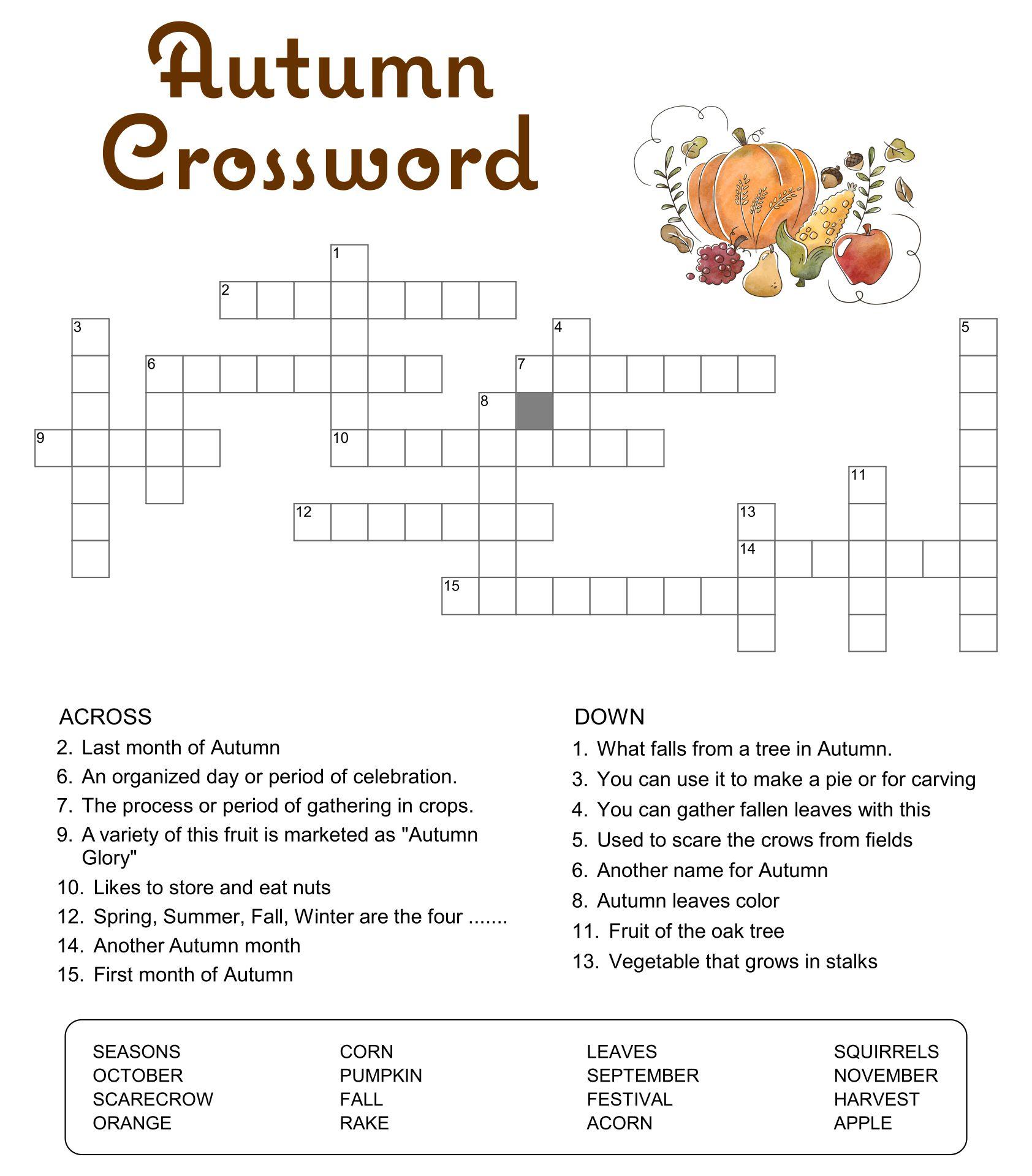 Printable Easy Crossword Puzzles Word