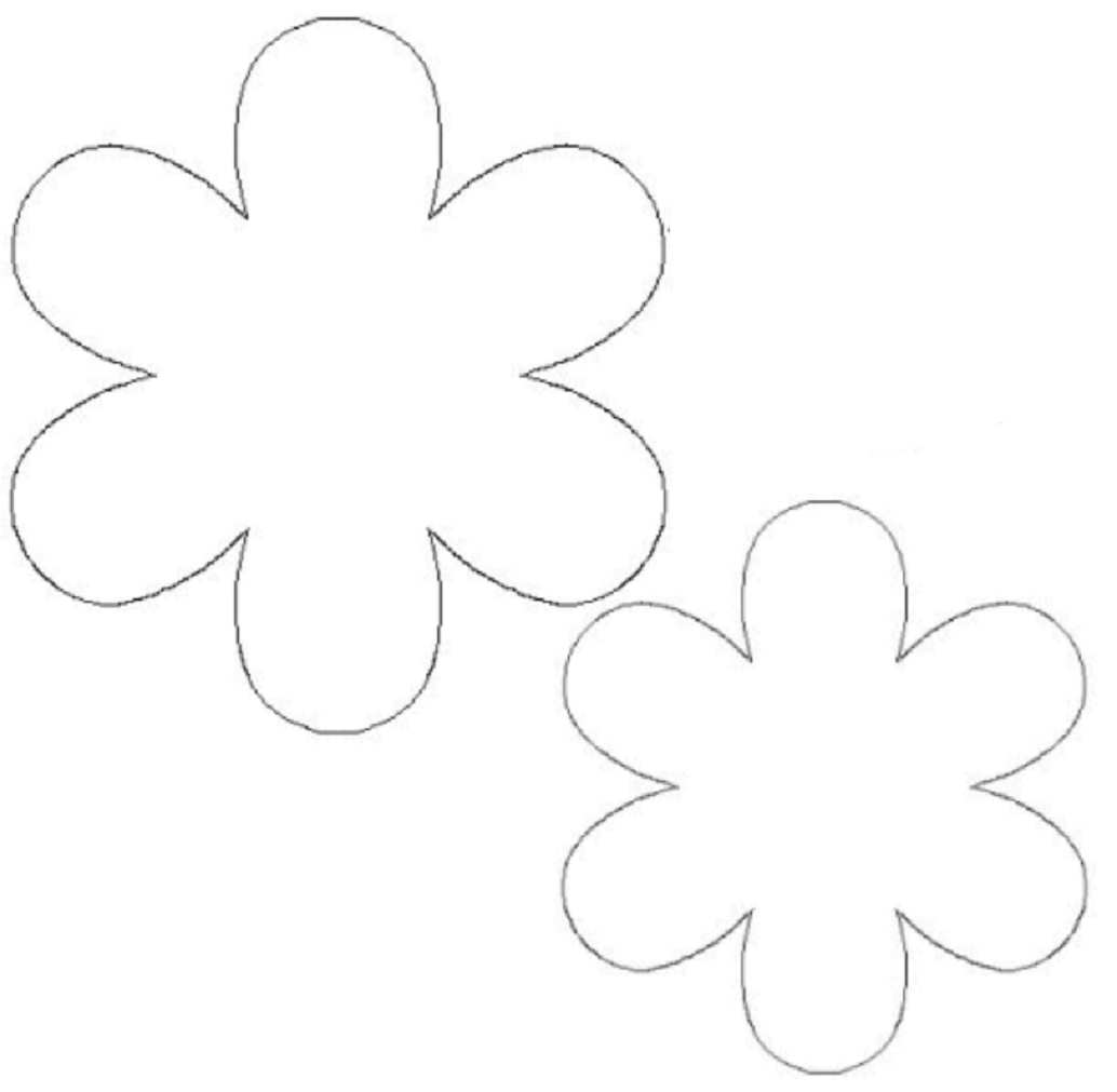 Printable Flower Template Cut Out