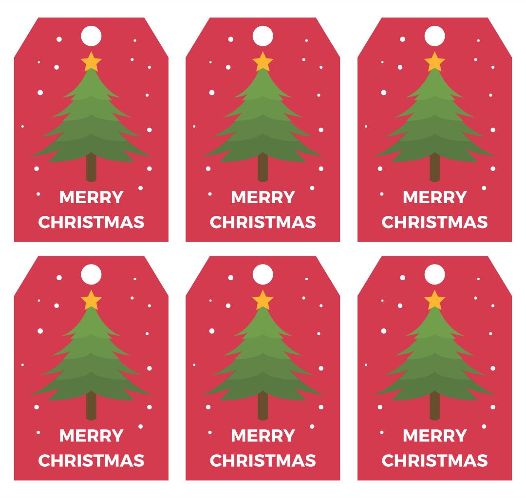 Printable Gift Tag Christmas Tree