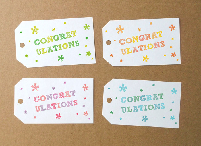 7 Images of Congratulations Free Printable Tags