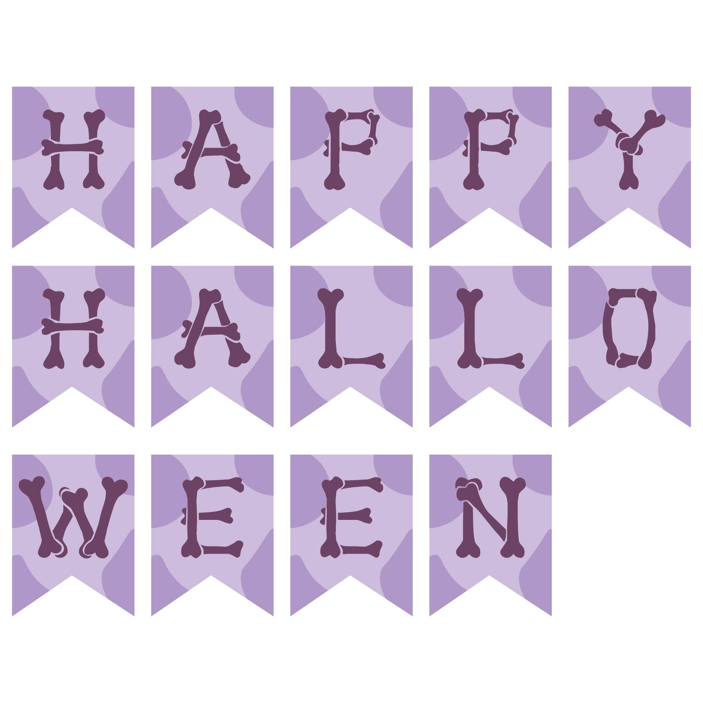 Printable Halloween Skull Banner