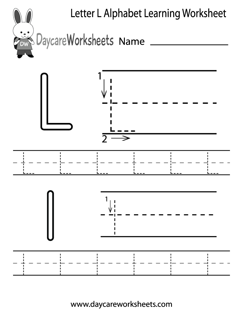 5 Images of Free Printable Letter L