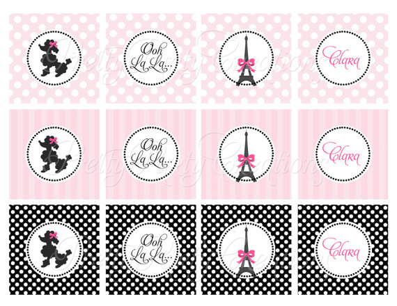 7 Images of Poodle Paris Theme With Printables