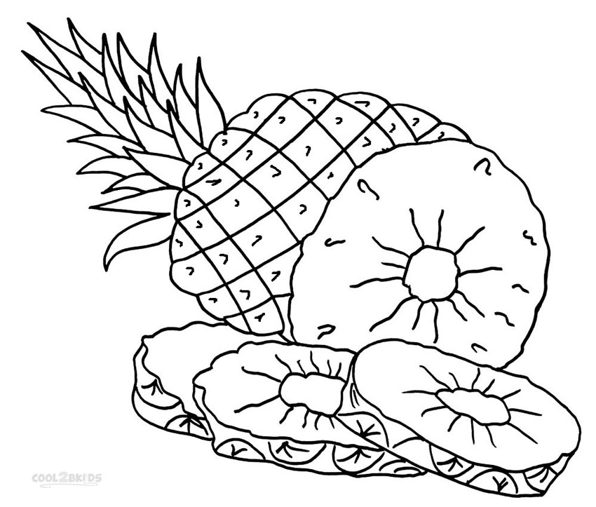 8 Images of Free Printable Pineapple Coloring Pages