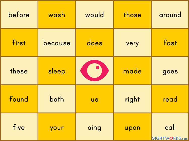 how to teach sight words to year 1 children