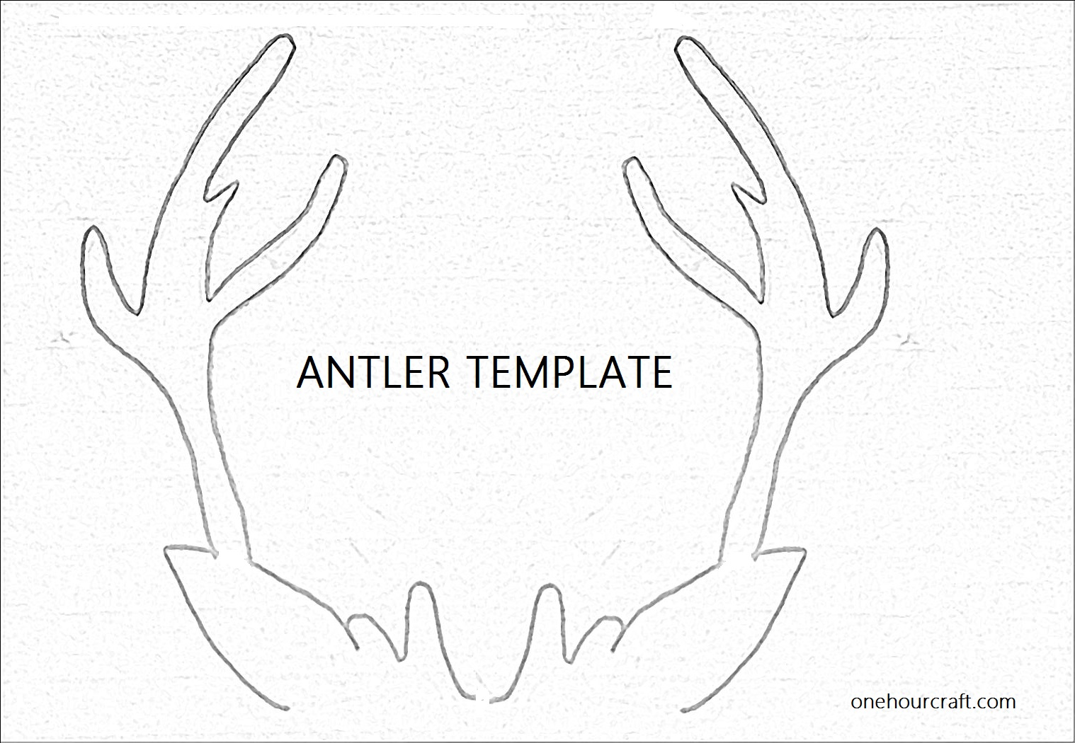 6 best images of antler pattern printable free reindeer for Rudolph antlers template