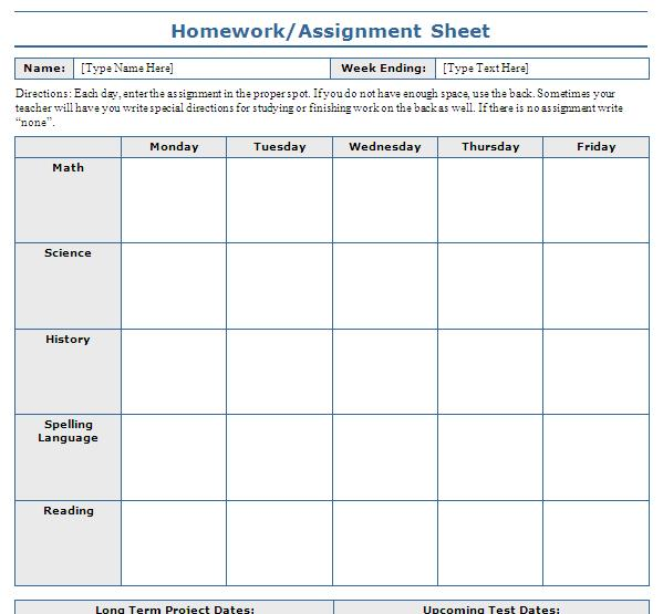 High school research paper assignment sheet