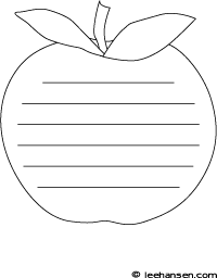Shaped writing paper