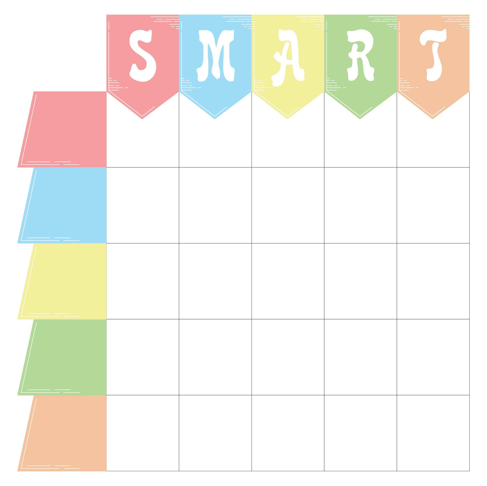 8 Best Blank Printable Goals Template Smart Printablee Com