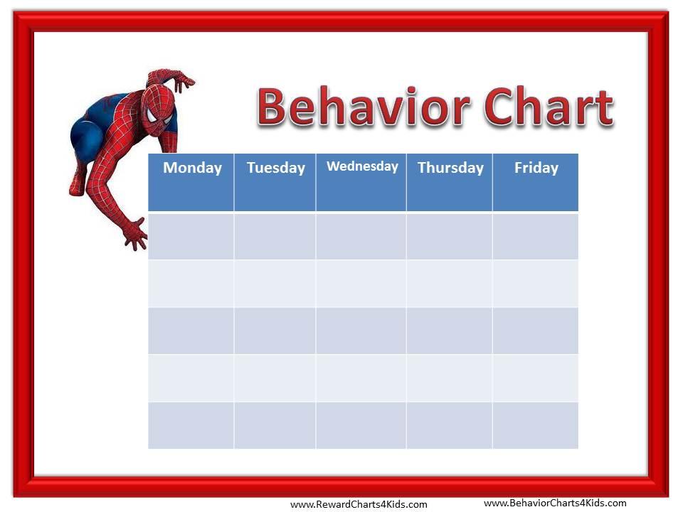 ... Printable, Printable Behavior Charts Kids and Free Printable Blank